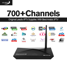 A9 IPTV STB Smart Android TV Box 2G+16G Media Player with HD 700+ Live iptv Europe arabic Channels subscription 1 year French UK