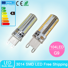 1pcs G9 LED BULB corn bulb 104 SMD 3014 13W 110V 220V Warm white/white  Spotlight light Chandelier