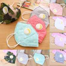 Single nonwoven face mask Anti PM 2.5 pollen dust proof Face Mask with Exhalation Valve anti-dust filter Winter Warm Mask