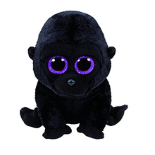 "Pyoopeo Ty Beanie Boos 6"" GEORGE the Black Gorilla Plush Stuffed Animal Collectible Soft Big Eyes Doll Toy"