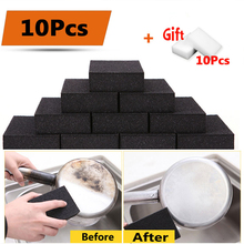 10pcs Nano Sponge Magic Eraser for Removing Rust Kitchen Cleaning Tool Plus Free Gift 10pcs White Melamine Sponge(China)