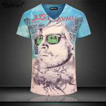 2017 Newest 3D clothing Character avatar print 3d t shirt men short sleeve casual cotton tshirt tee tops v-neck