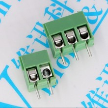 100PCS 3.5mm Pitch Screw Terminal Connector 2 Pin 3 Pin Straight Leg KF350 Copper Green PCB Terminal Blocks