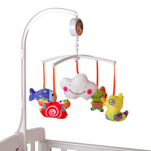 Baby Bed Bell 0-1 Year Old Newborn 0-12months Toy Rotating Music Hanging Baby Rattle Bracket Set Baby Crib Mobile Holder