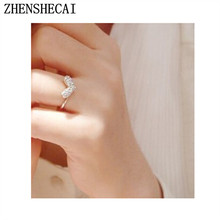 Personality Party Commitment Ring Gift Bright Elements Heart Rings For Women Lovers Ring Jewelry Hot Sale 2017 Wholesale nz27(China)