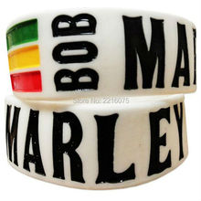 300pcs one inch Bob Marley silicone wristband rubber bracelets free shipping by DHL express(China)
