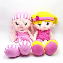 38CM New Fashion Girls dolls plush and stuffed dress girls Doll toys birthday gifts baby girl's first doll