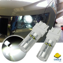1000 Lumens Xenon White 3156 3056 3157 4CREE LED Bulbs For 2011-up Jeep Grand Cherokee For Daytime Running Lights 1 pair