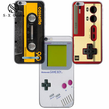 Cases TPU Covers For iPhone5 5c 5s SE 6 6s Old School Vintage Style Game Boy Famicoms Nintendo System Calculator Nokias-020123