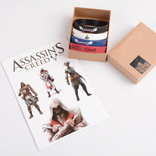 1 Set Anime Cartoon Final Fantasy Assassins Creed Plastic Live By The Creed Wristband Kids  Action Figures Toys Christmas Gifts