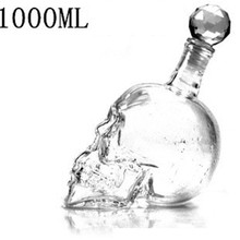 DUOLVQI Crystal Head Vodka Bottle Skull Head Bottles Creative Gothic Wine Glass Cup Decanter Wine Glass Bottle with Tap(China)