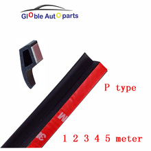 P type 3M Car Rubber Seal Noise Sound Insulation Waterproof Rubber Sealing Strips Edge Trim Dust Auto Door Rubber Sealant(China)