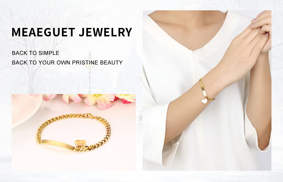 Meaeguet Laser Engrave ID Personalized Name Bracelet For Women Customized Stainless Steel Bangle Jewelry 8mm Wide (4)