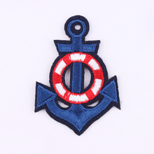 Hot Sale 1PCS Patches Cartoon Anchor Embroidered Iron On Patch For Clothing Jacket Applique  Applique DIY Accessory