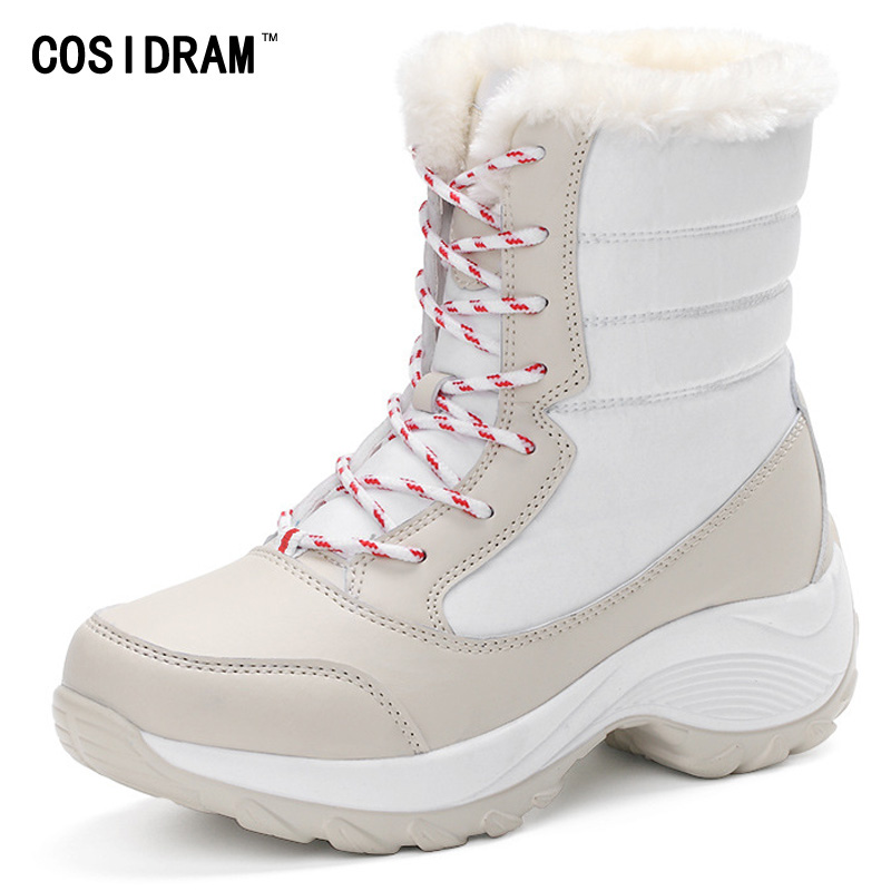 Women Snow Boots Warm Waterproof Plush Women Boots...