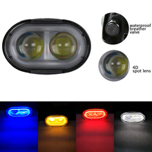 2pcs 20W Led Work Light 4D Len White Blue Red Amber Yellow Spot Led Driving Light Waterproof Offroad Warning Working Spotlight