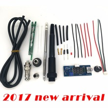 STC-T12 solder iron DIY kits/Unit Digital Soldering Iron Station Temperature Controller Kits / MINI STC T12 DIY sets