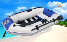 One Person Inflatable Kayak Boat Fishing Tender Poonton Boat With Wooden Slats Floor Pump