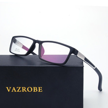Vazrobe Sports Men's Eyeglasses Frame Optical Prescription Spectacles Spring Hinge Square Fashion Eye Glasses Myopia Eyewear