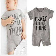 Summer Toddler Boy Romper 2016 Fashion Letter Printing Boy Toddler Romper Summer Brand Short Sleeve Baby Clothes For Girl Boy