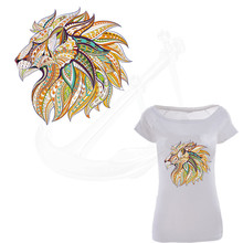 2017 NEW patch for clothing lion 25*25cm T-shirt Dresses Sweater thermal transfer Printed A-level Washable Sticker