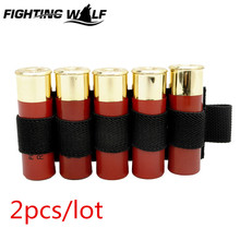 2pcs/lot Tactical Airsoft Paintball Wargame 5 Round Shotgun Shell 12 Gauge Ammo Carrier Holder Pouch Hunting Shooting Sport