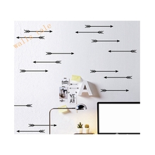 Arrow Wall Decals , Arrows Pattern Wall Sticker Removable Kids Room decoration art Wall Decors Free Shipping set of 24pcs(China)