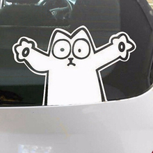 Free shipping FUN DECAL SIMON'S CAT CAR WINDOW STICKER , simon's cat laptop sticker(China)