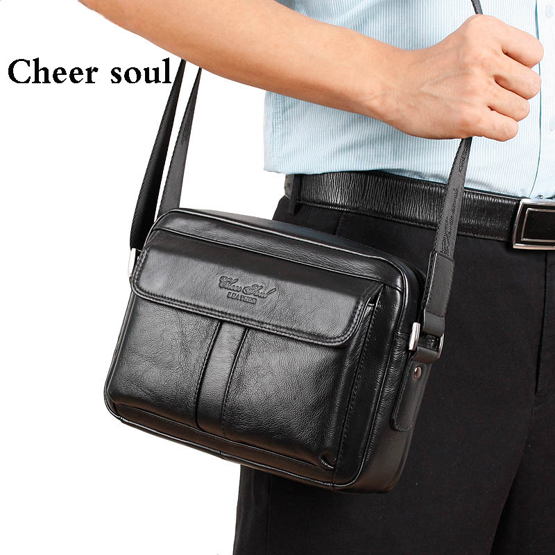 Genuine Leather Men Classical Messenger Bags Fashion Casual Business Shoulder Handbags for man,2015 New Mens Travel Bags Bolsas<br>