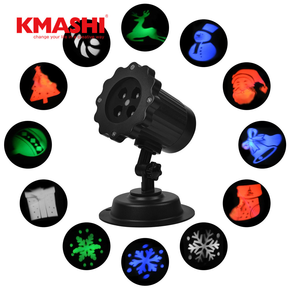 Kmashi IP65 Waterproof red laser 12 Halloween film image Latest Laser motion Projector Outdoor lighting lawn Lantern Flashlight<br>