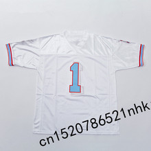 Retro star #1 Warren Moon Embroidered Name&Number Throwback Football Jersey(China)