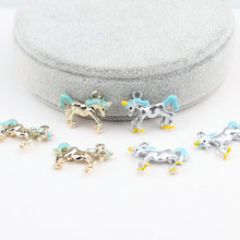 Buy New Design alloy drop oil Gold/Asian silver tone Animals Cartoon 3D horse Shape Charms Diy Jewelry Keyring/Key Chain Pendants for $17.99 in AliExpress store