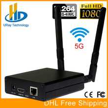 DHL Free Shipping MPEG-4 AVC / H.264 WIFI HDMI Video Encoder HDMI Transmitter Live Broadcast Encoder Wireless H264 IPTV Encoder(China)