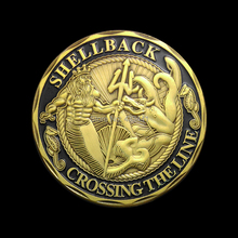 No magnetic Color Black Shellback and Navy Coin,Free Shipping,100pcs/lot,Crossing the line,United States Navy Coin,Souvenir coin