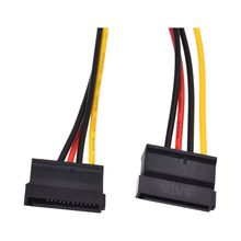 LP4 to 2 SATA Internal Power Splitter Cable (SATA Power Splitter Adapter Cable 4 pin Molex 5.25 to 2 x SATA Converter)(China)