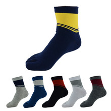 6pairs/lot Four Seasons Men Socks 100% Cotton Five Finger Toe Breathable Warm Absorb Sweat  Boy Elasticity SockWZ118