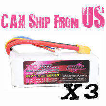 CNHL G+PLUS LI-PO 1500mAh 14.8V 70C(Max 140C) 4S Lipo Battery Pack for RC Hobby with free shipping(China)