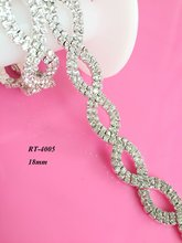 1yard DIY strass crystal rhinestone trim trimming for bridal neckline lace sash wedding sash belt (RT-4005)