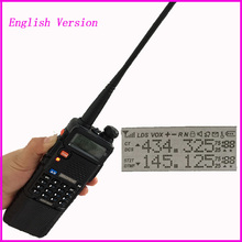 Upgrade uv 5r Baofeng uv-5r 3800mah for ham cb Two Way Radio Walkie Talkie Vhf Uhf Dual Band Portable Radio Station intercom