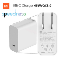 Original Xiaomi Mi USB-C Charger 45W Max Smart Output Type-C Port USB PD 2.0 Quick Charger QC 3.0 Gift Cable(China)