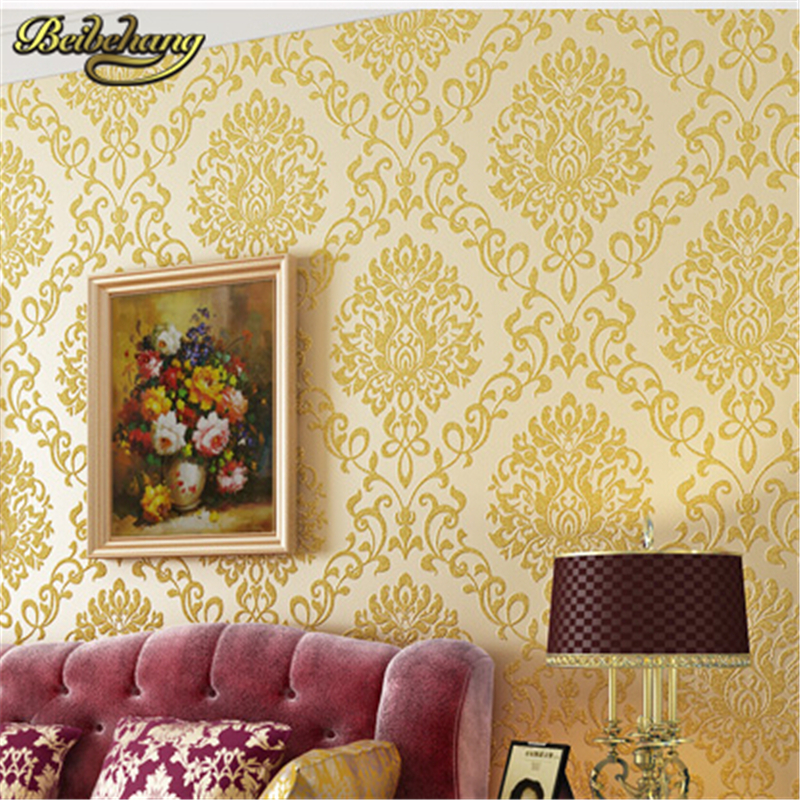 beibehang DAMASK 3D Floral Wall Paper Wallpapers Roll Europe Classic Tapete for Living Room Bedroom Home Decor papel de parede<br>