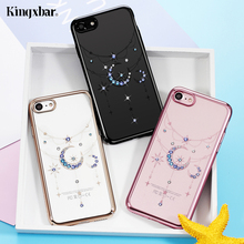 KINGXBAR Phone Cases for iPhone 7 7 Plus Case Luxury Crystals Swarovski Rhinestone PC Back Cover for iPhone 7 Plus Coque Capa