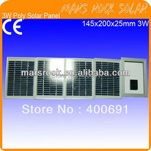 3W 18V Polycrystalline Solar Panel High Efficiency, Nice Appearance, Long Lifecycle, 80% Power Warranty within 25 years