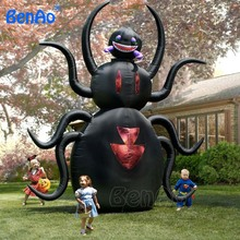 H026 3.5m Free shipping giant Inflatable animated spider Outdoor Halloween Yard Decoration/ zombie/walking/Pumpkin with Light(China)