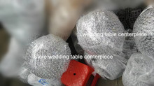 customized round shape ball for decoration flower arrangement stands for wedding hall(China)