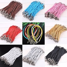 10pcs 19cm Color Blank Braid Rope Lobster Clasp Man-made Leather Bracelet For Men Women Diy Jewelry Making Wholesale Accessoires