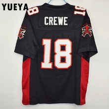 "YUEYA ""The Longest Yard"" Movie Jerseys #18 Paul Crewe Mean Machine American Football Jersey Mens Cheap Black S-3XL"