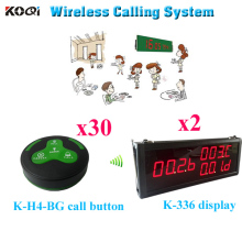 Wireless Buzzer Quiz System 300m Wireless Transmitter And Receiver Equipment For Eestaurant Hotel ( 2 display 30 call button)(China)