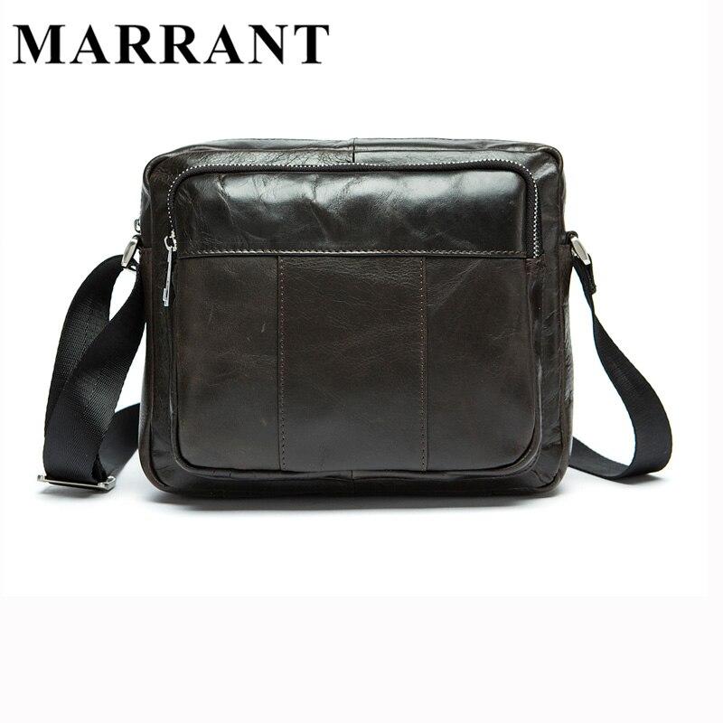 MARRATN Genuine Leather Men Bags Man Crossbody Bag Men Small Business Bags Male Messenger Cowhide Leather Shoulder Bag 9039<br>