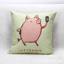 45cm*45cm Cute Cartoon Small Pig Printed Cushion Bedding Pillow For Children's Birthday Gift